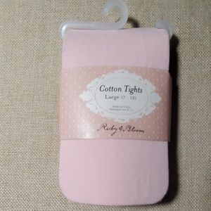 Ruby & Bloom Pink Cotton Tights L 7-10